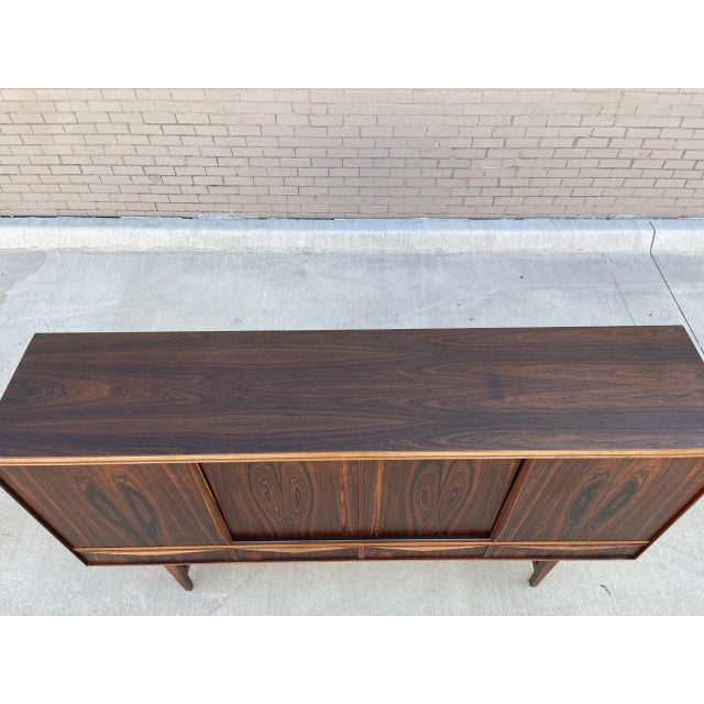 Wood Arne Vodder Style Rosewood Highboard For Sale - Image 7 of 11