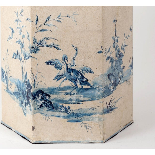 Vintage Hand-Painted British Export Tea Caddy Table Lamp For Sale - Image 9 of 10