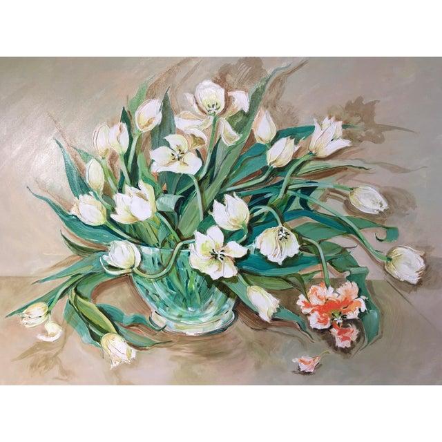 Mid-Century Still Life of Flowers - Image 4 of 9