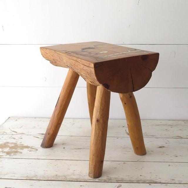 Split Log Side Table For Sale - Image 4 of 9