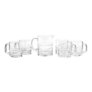 1960s Beer Pitcher & Tumbler Set, 6 Pieces For Sale