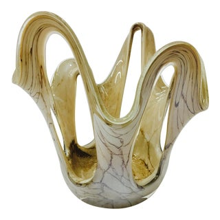 Vintage Marbled Murano Dish