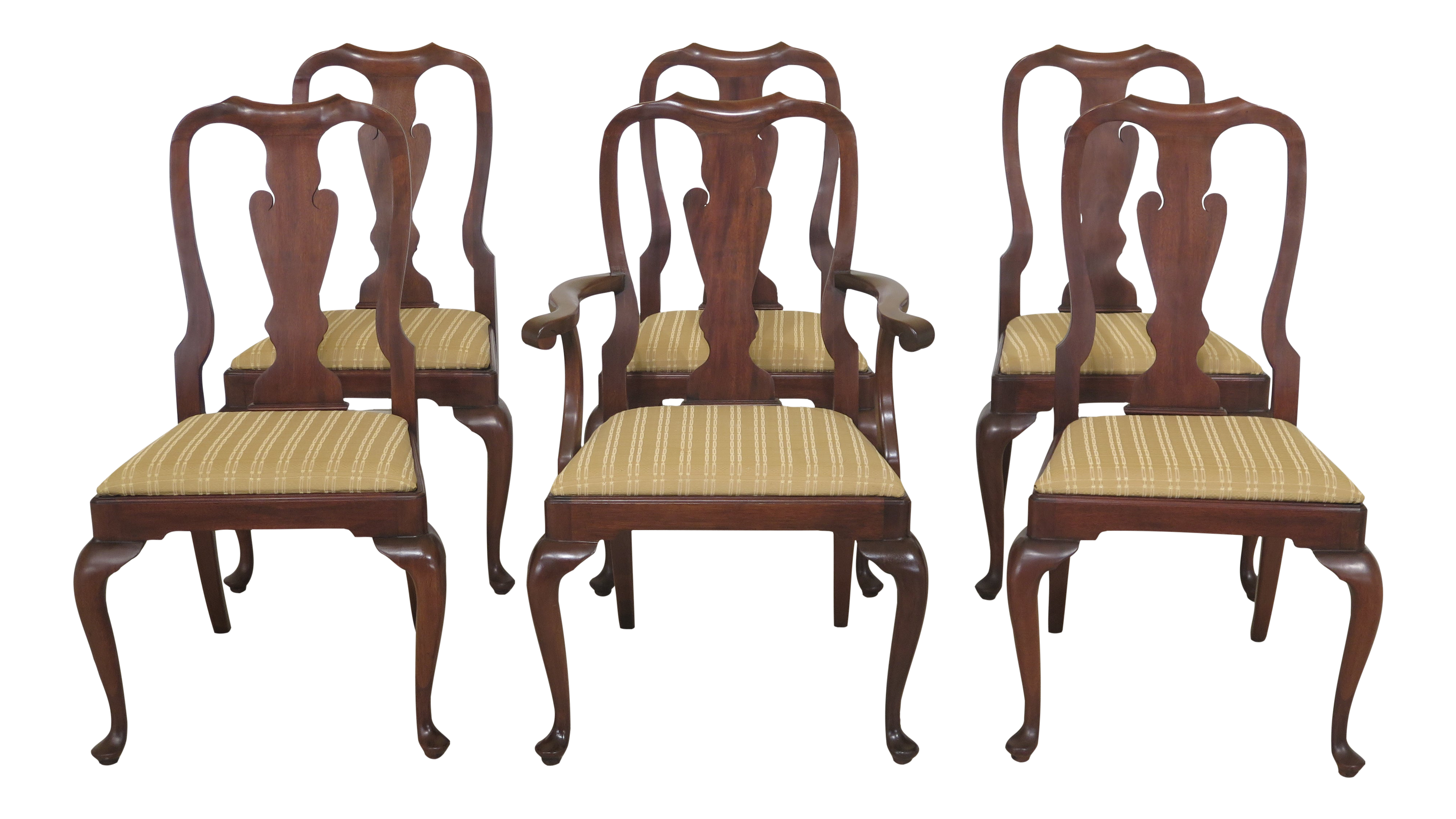Delicieux 1970s Vintage Henkel Harris Mahogany Dining Room Mahogany Chairs  Set Of 6