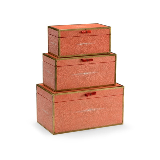 Contemporary Wildwood Cousteau Coral Boxes - Set of 3 For Sale - Image 3 of 3