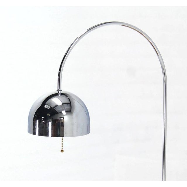 Robert Sonneman Marble Cube Base Chrome Table Lamp Arco For Sale - Image 4 of 7