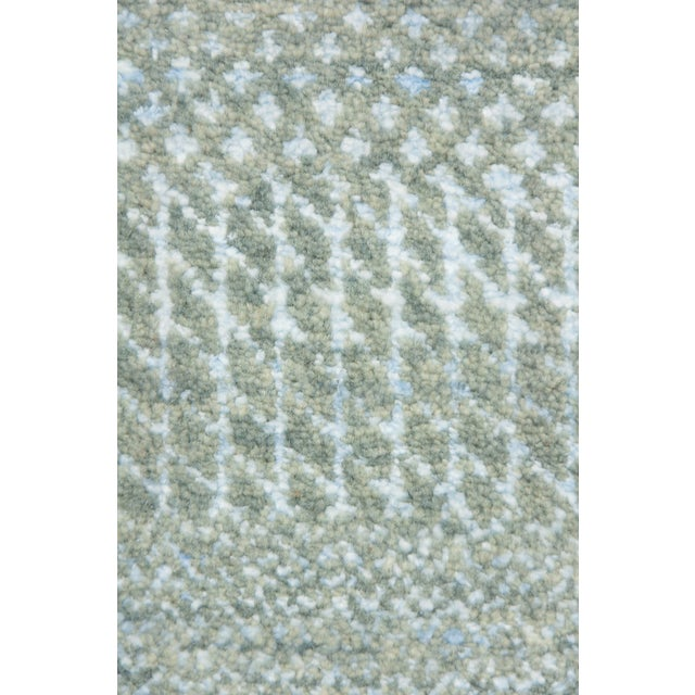 """Tonal Striped Hand Knotted Area Rug - 9'1"""" X 12'3"""" - Image 4 of 4"""