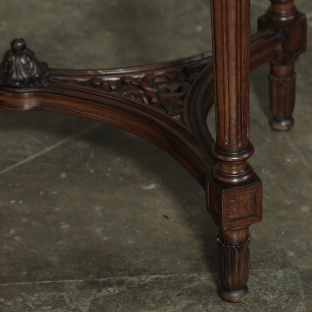 Wood 19th Century French Louis XVI Marble Top Oval End Table For Sale - Image 7 of 12