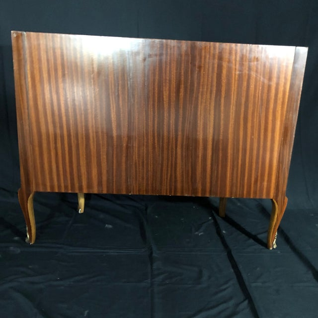 French Louis XV Style Inlaid Demilune Buffet Cabinet Credenza For Sale - Image 12 of 13
