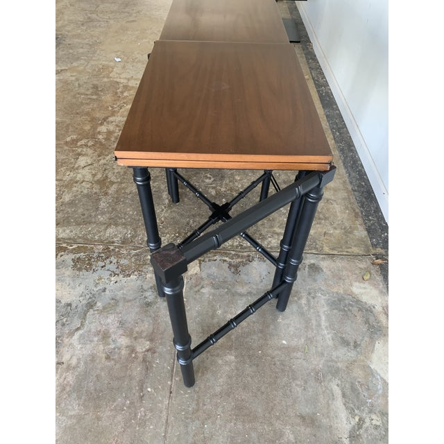 Wood Vintage Drexel Expandable Bamboo Console For Sale - Image 7 of 13