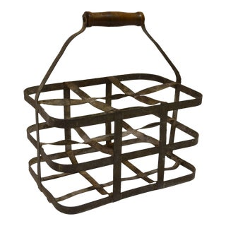 Vintage French Bottle Carrier For Sale