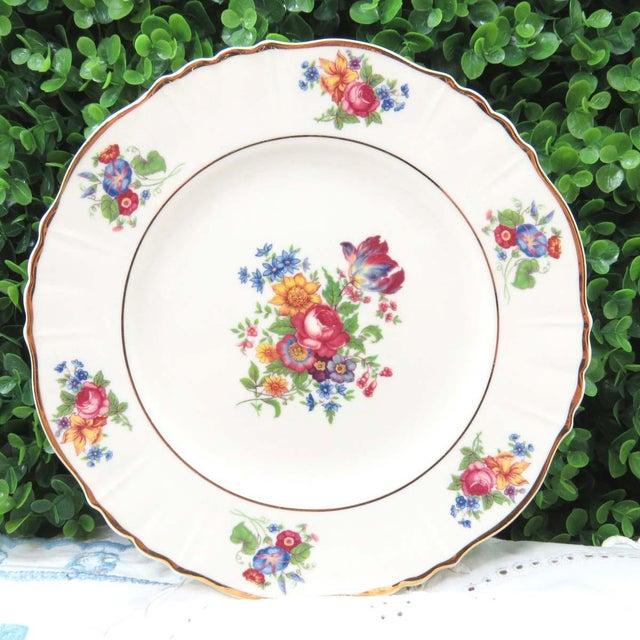 """Mismatched Vintage 8"""" Dessert Plates - Set of 4 - Image 3 of 7"""