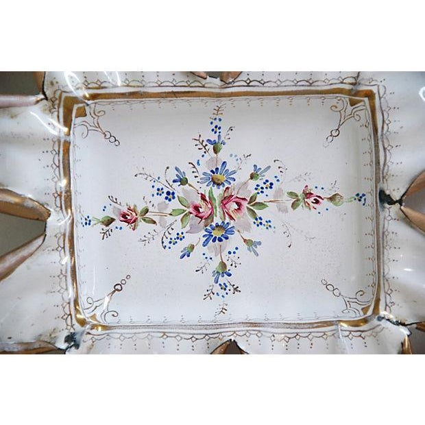 Vintage 1950s French Hand-Painted Catchall Tray - Image 3 of 7