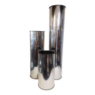 "1970's ""Chrome"" Plastic Plant Stands - Set of 3 For Sale"