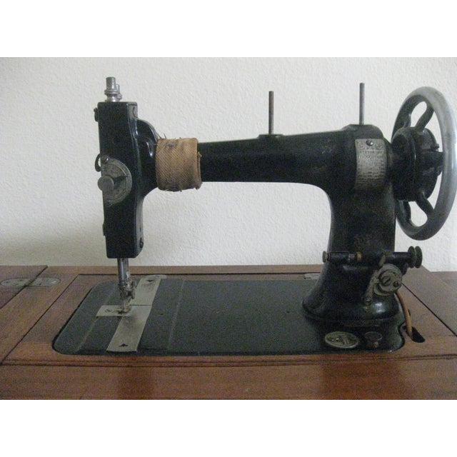 Cabinet With Original Sewing Machine For Sale - Image 9 of 10