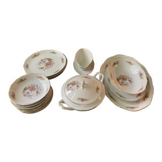 Rare 1940s Vintage Seyei China Tree Partial Dinner Set- 17 Pieces,Reduced Final For Sale