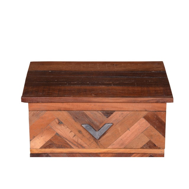 Contemporary Emelia Wooden Bedside Table For Sale - Image 4 of 7