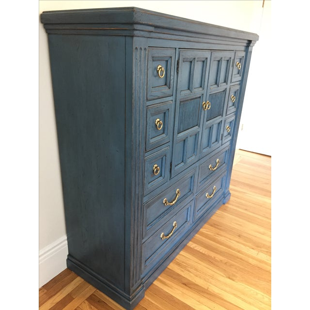 Drexel Heritage Blue Armoire - Image 5 of 11