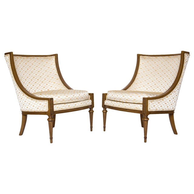 Slipper Chairs by Hibriten, A Pair - Image 1 of 10