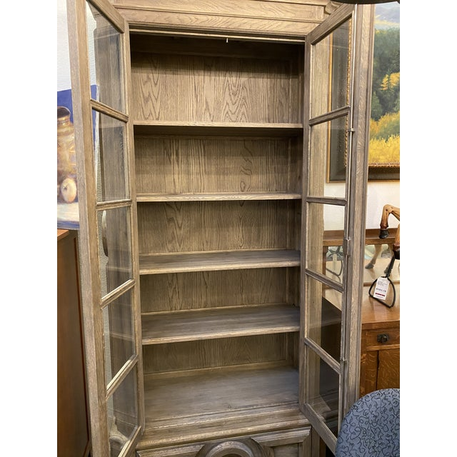 Wood Custom Design Wallace Glass Front Cabinet For Sale - Image 7 of 13