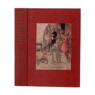 "1939 ""Aesop's Fables, Illustrated by Arthur Rackham"" Collectible Book For Sale"
