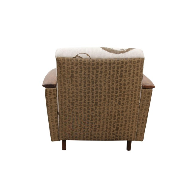1960s Kravet Upholstered Mid Century Modern Armchairs - a Pair For Sale - Image 5 of 8