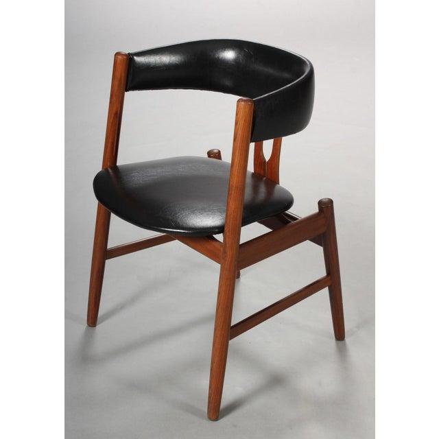 Mid-Century Modern Rare Danish Armchair in the Style of Kai Kristiansen For Sale - Image 3 of 8