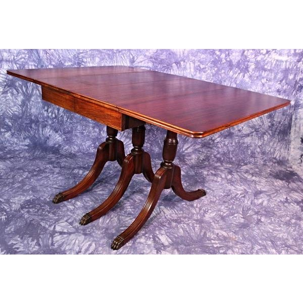 35c6292fba5a Brown 1930 Duncan Phyfe Antique Mahogany Drop Leaf Dining Table For Sale -  Image 8 of