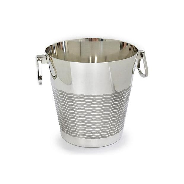 Art Deco 1940s French Art Deco St. Medard Champagne Bucket For Sale - Image 3 of 5