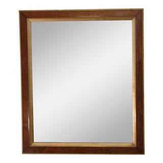Large Walnut Veneer Mirror For Sale
