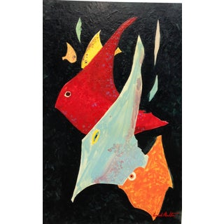 Conrad Moulton Abstract Fish Giclee Print of the Painting For Sale