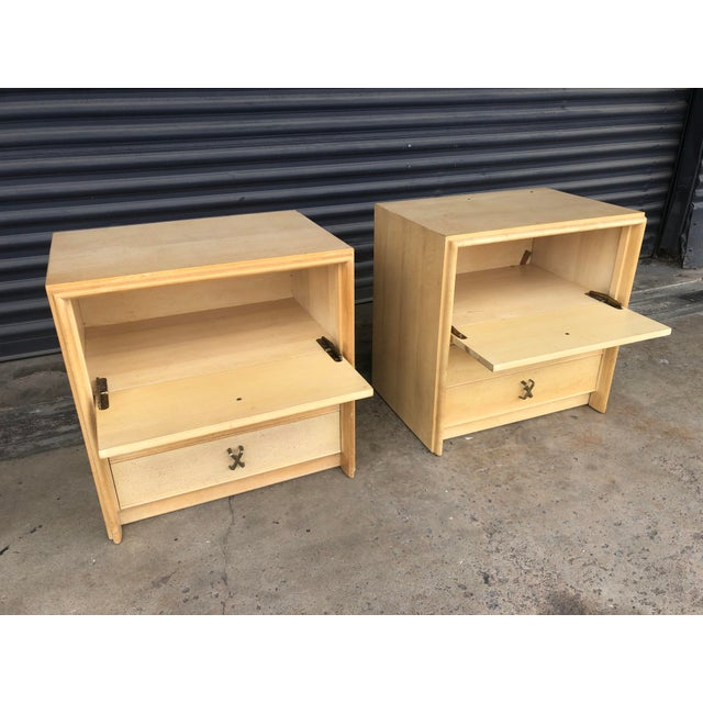 Mid Century Paul Frankl X Pull Nightstands- a Pair For Sale In Tampa - Image 6 of 11