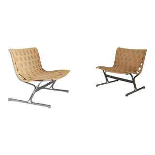 Pair of Armchairs by Ross Littel Mod Luar, 1965. For Sale
