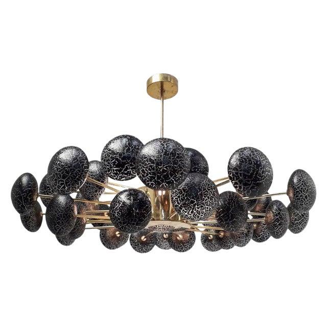 Crackled Globes Chandelier by Fabio Ltd For Sale