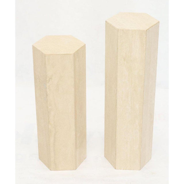 Mid-Century Modern Travertine Marble Tall Tower Shape Table Pedestal For Sale - Image 12 of 13