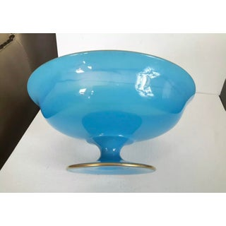 19th Century French Blue Opaline Compote Preview