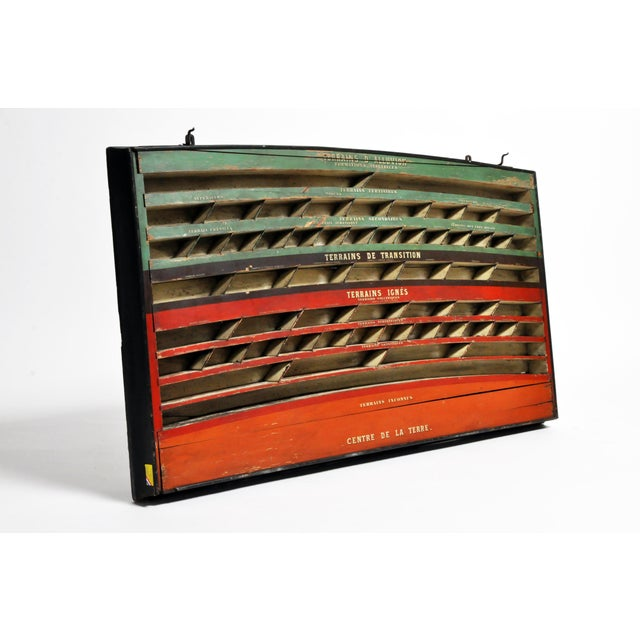French Mid 20th C. French Geology Wall Display For Sale - Image 3 of 13