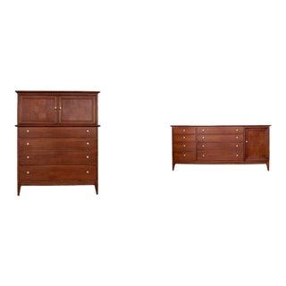 Mid-Century Lowboy & Highboy Dressers by R-Way - A Pair
