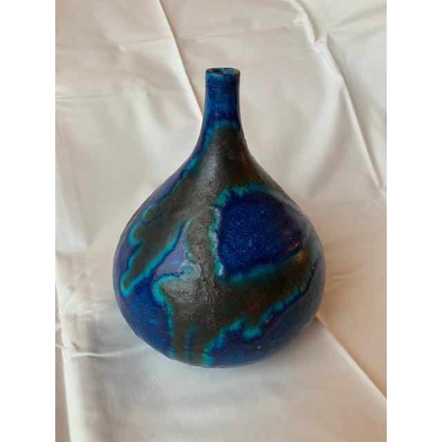 Ceramic 1950s Italian Guido Gambone Pottery Vase For Sale - Image 7 of 10