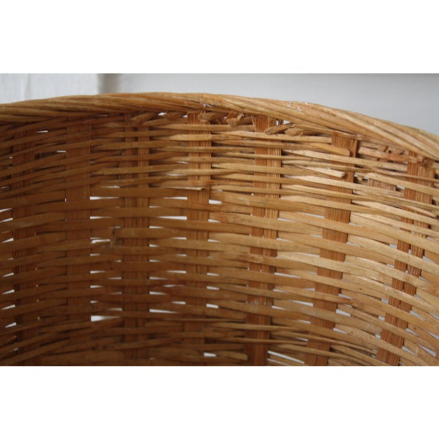 Vintage Woven Wicker Basket For Sale In Dallas - Image 6 of 10