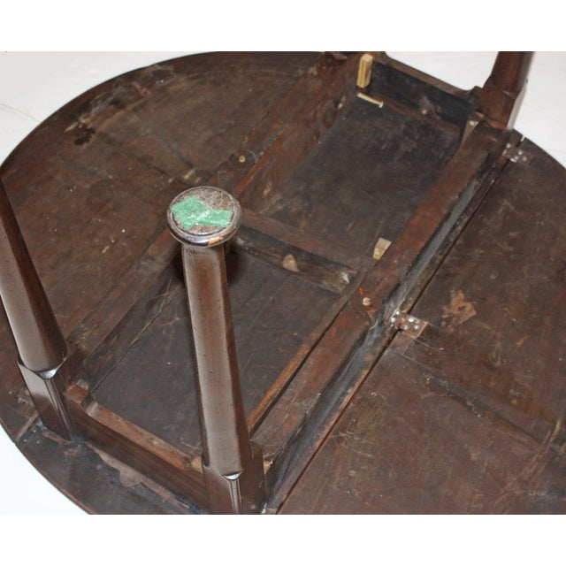 Mid 18th Century Drop Leaf Dining Table / ROUND / George III Period For Sale - Image 5 of 6