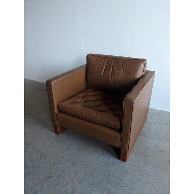 Vintage Mid Century Mies Van Der Rohe Lounge Chair For Sale - Image 4 of 9