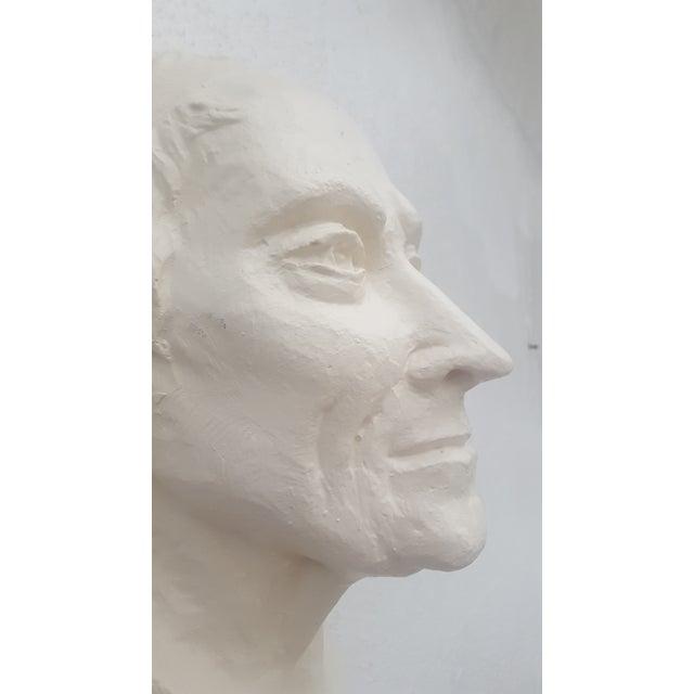 1960\'s Signed Plaster Wall Art Hanging Man Sculpture | Chairish