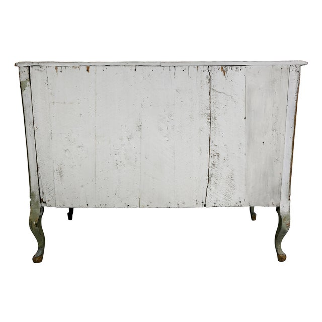 Italian Rococo Lacca Povera Painted Commode For Sale - Image 10 of 11