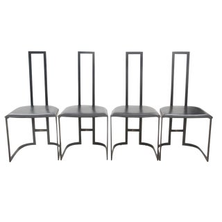 Italian Art Deco Chairs - Set of 4 For Sale