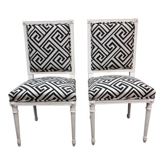 French Painted Chairs - A Pair For Sale