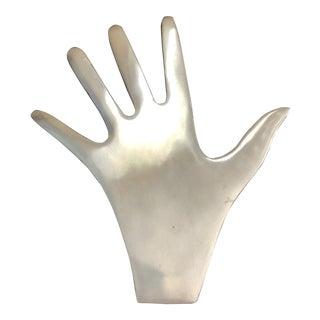 Vintage Cast Aluminum Human Hand Hot Pad Trivet For Sale