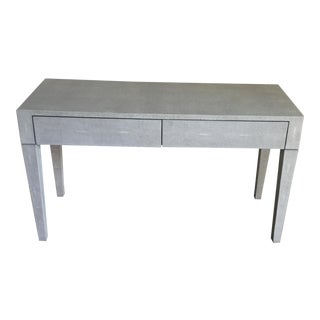 Made Goods Castor Grey Faux Shagreen Sorin Desk For Sale