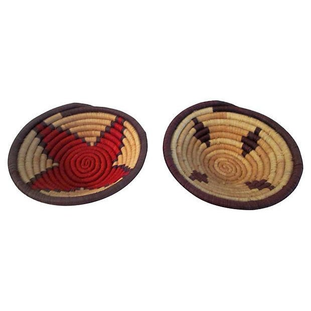 Vintage Petite African Coiled Baskets - A Pair - Image 6 of 6