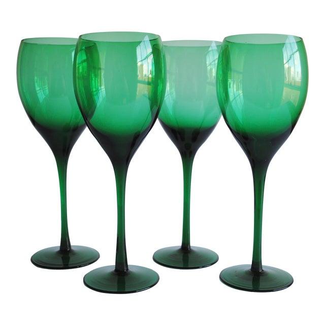 Vintage Long Stemmed Wine Glasses - Set of 4 - Image 1 of 4