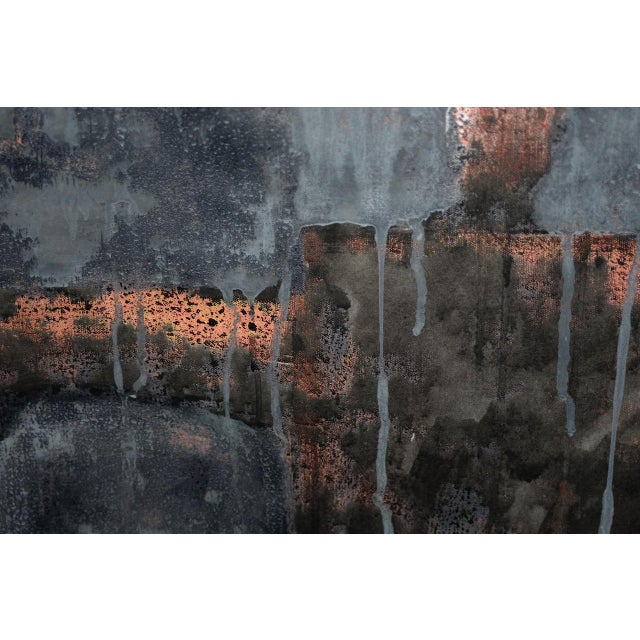 Aaron Fink (American, B.1955) Vintage Abstract Original Painting C.1986 For Sale - Image 9 of 13